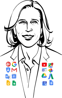 illustration of Susan Wojcicki