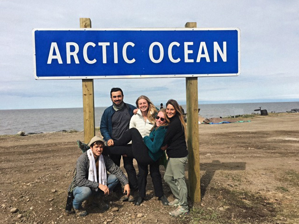 UCSC Students at the Arctic Ocean